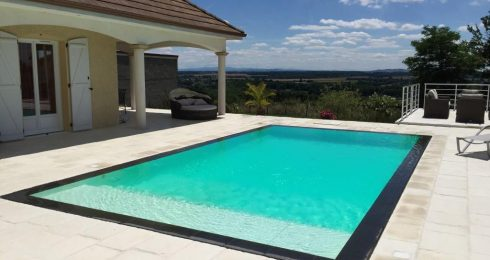 piscine miroir 8x4 m en panneau Steeltech Protec