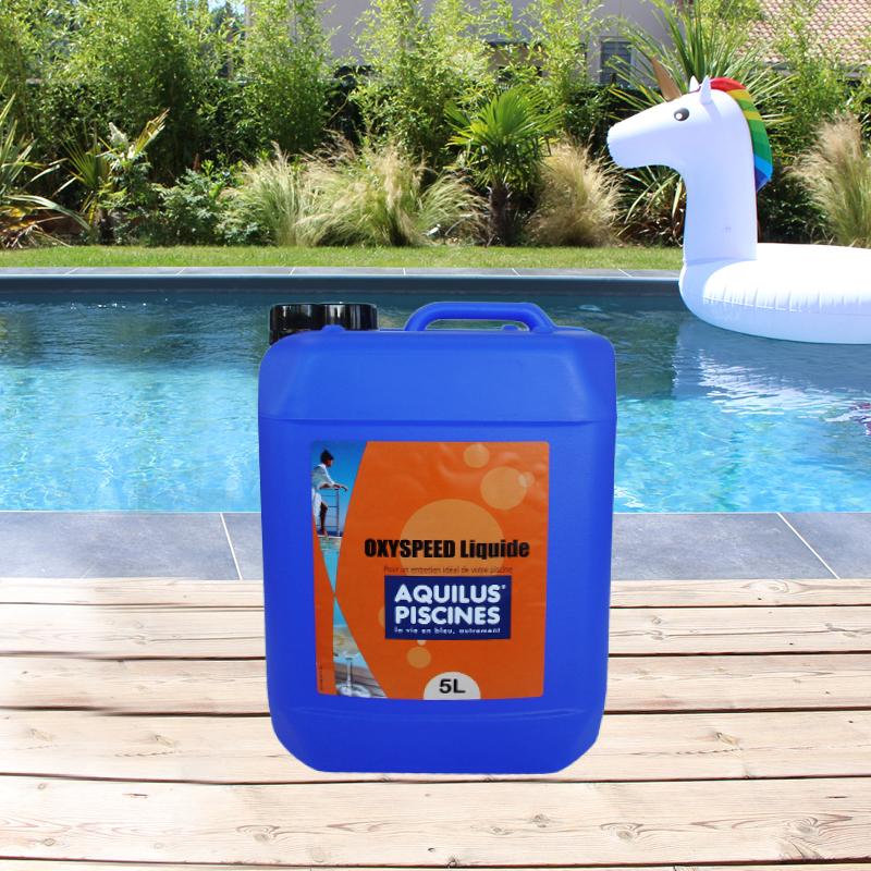 Traitez l'eau de votre piscine Aquilus avec de l'oxygène actif